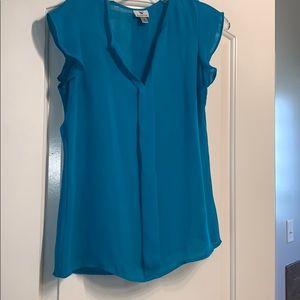 Worthington Aqua/Turquoise Dress Blouse